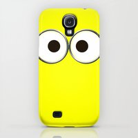 Galaxy S4 Cases featuring minion by cbrocoff