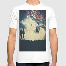 Walk On White SMALL Mens Fitted Tee
