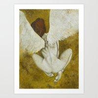 The Gold  Angel Art Print