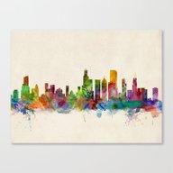 Chicago City Skyline Canvas Print