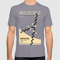 MOLECULE Mens Fitted Tee Slate SMALL