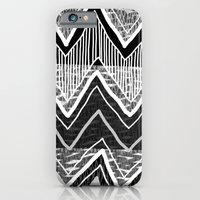 iPhone & iPod Case featuring Sunchoke #5 // Black + White Version by KATE KOSEK