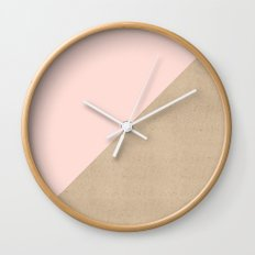 Pastel and Paper Wall Clock