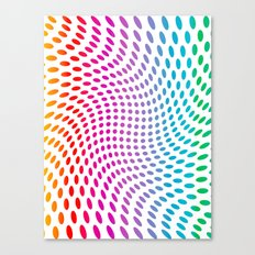 Approaching and receding shapes in CMYK - Optical game 17 Canvas Print