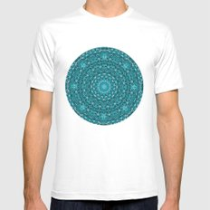 Mandala 2 White SMALL Mens Fitted Tee