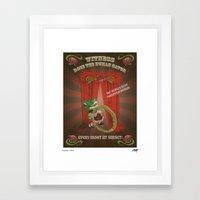 Rose The Human Gator Framed Art Print