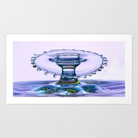 water crown Art Print