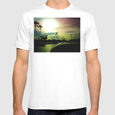 After the Storm Mens Fitted Tee SMALL White