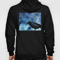 Crow Veins Watercolor/Pe… Hoody