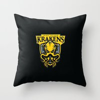 Iron Island Krakens Throw Pillow
