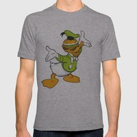 Donald Duckburger Mens Fitted Tee Athletic Grey SMALL