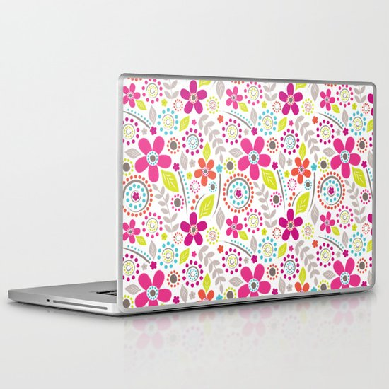 Inky Floral Laptop & iPad Skin