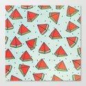Watermelon doodles  Canvas Print