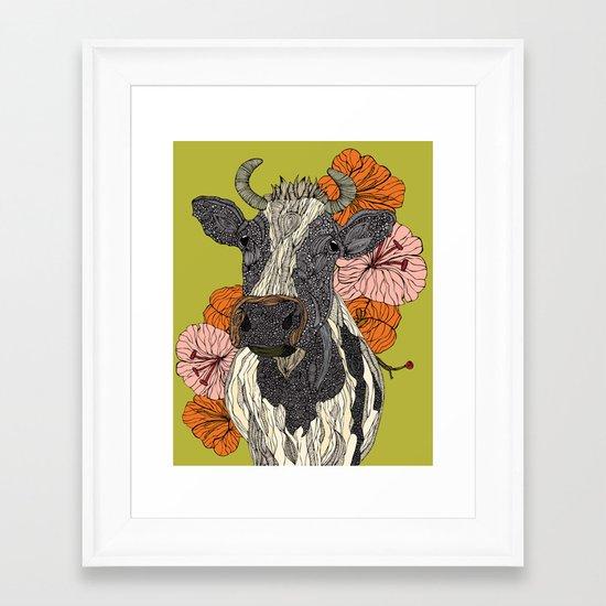 Moooo Framed Art Print