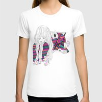 ▲SHE-WOLF▲ Womens Fitted Tee White SMALL
