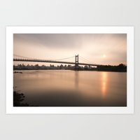 Triborough Bridge (NYC) at Sunset Art Print