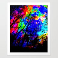 Art Print featuring Colorful Trees by 2sweet4words Designs