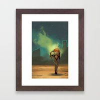 Landing Framed Art Print
