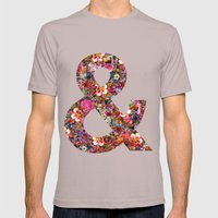 & ampersand print Mens Fitted Tee Cinder SMALL