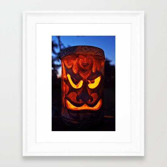 Tiki summer Framed Art Print