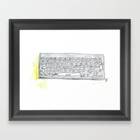 Qwerty. Framed Art Print