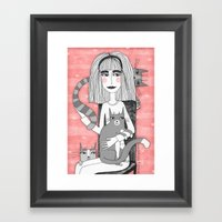 OBSESSIVE CAT DISORDER Framed Art Print