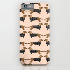 Happy Dachshund Dogs by Andrea Lauren  iPhone 6 Slim Case
