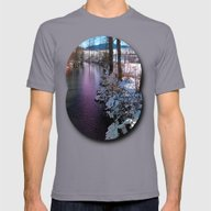 Quiet River In Winter Ti… Mens Fitted Tee Slate SMALL