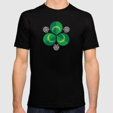 White Clover Mens Fitted Tee Black SMALL