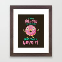 Killer Donut Framed Art Print