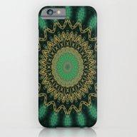 Golden Mandala (green) iPhone 6 Slim Case