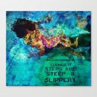 Slippery Canvas Print