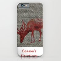 iPhone & iPod Case featuring Season's Greetings 01 by Axiomatic Art