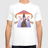 Off Shore Firework Show Mens Fitted Tee White SMALL