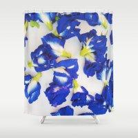 Pea Flower Shower Curtain