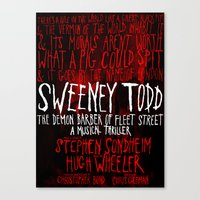 Sweeney Todd Canvas Print