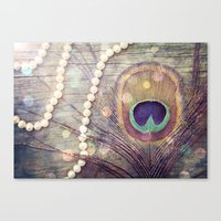 Feathers & Pearls Canvas Print