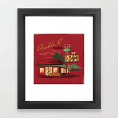 DOUBLE R DINER Framed Art Print