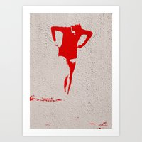 Woman Emerging (j) Art Print