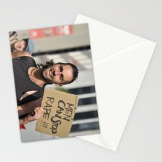 Men can stop rape Stationery Cards