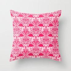 Flamingo Damask Throw Pillow