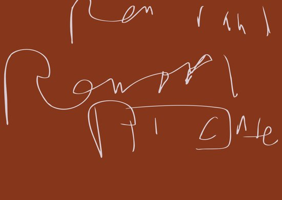 Renoir Signature  Forgery Series 2012 Art Print