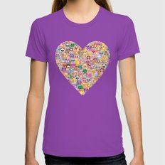 Emoji / Emoticons Womens Fitted Tee Ultraviolet SMALL