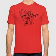 We Are Groot Mens Fitted Tee Red SMALL