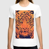 tiger Womens Fitted Tee White SMALL