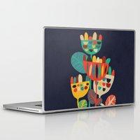 flowers Laptop & iPad Skins featuring Wild Flowers by Picomodi