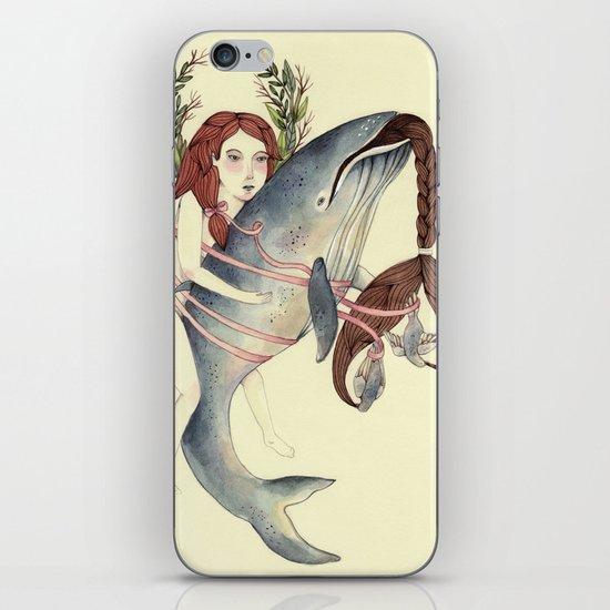 Ribbons Whale iPhone & iPod Skin