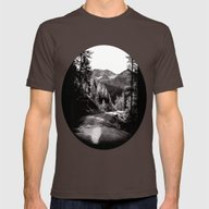 The Road Through The For… Mens Fitted Tee Brown SMALL