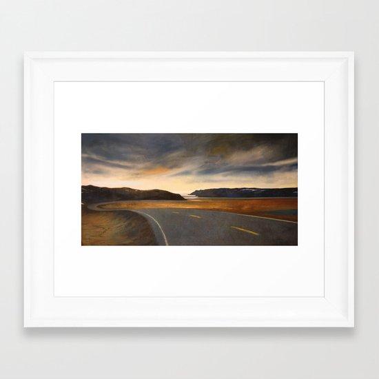 notte a Capo Nord Framed Art Print