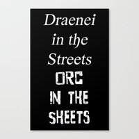 Draenei vs Orcs Canvas Print